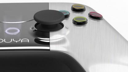 Blick auf das Gamepad der Ouya-Spielekonsole