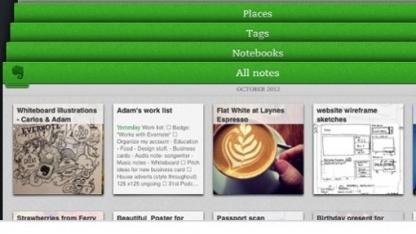 Evernote für iOS wurde vollständig überarbeitet.