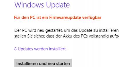 Das erste Firmware-Update für Microsoft Surface ist da.