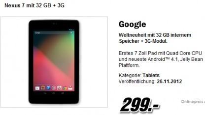 Nexus 7 mit UMTS-Modem