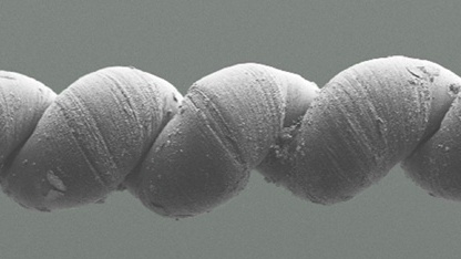 Nanogarn: Kontrahieren und rotieren