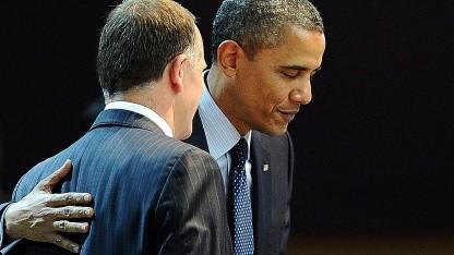 Obama (r.) und Key in einem früheren Gespräch im Jahr 2012