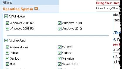 Betriebssysteme im AWS Marketplace