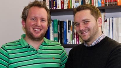 Die Autoren der Megaupload-Studie: Dr. Jörg Claussen (l.) und Christian Peukert