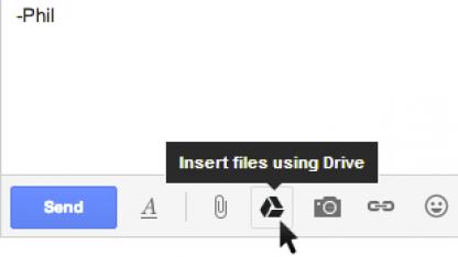 Goole Drive in Gmail integriert