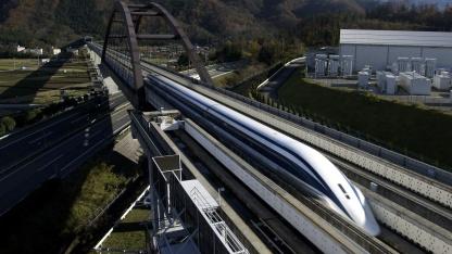 Rekordversuch mit einem Maglev in Japan (2003): Höchstgeschwindigkeit 581 km/h