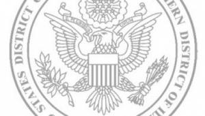 Siegel des US-Gerichts: Angeklagter blieb weg.
