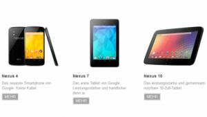 Alle neuen Nexus-Modelle sind ausverkauft.