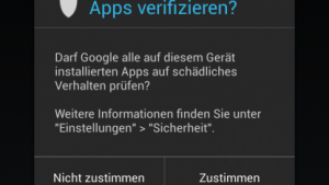 App-Verifzierung in Android 4.2