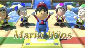 Mario gewinnt in Nintendo Land.
