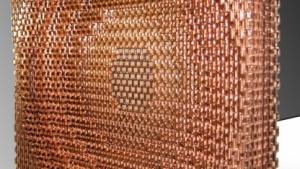 Metamaterial: 4.000 S-förmige Elementarzellen