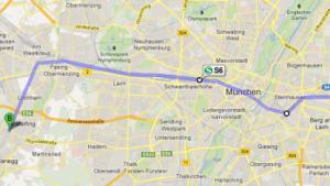 Fahrpläne öffentlicher Verkehrsmittel von München in Google Maps