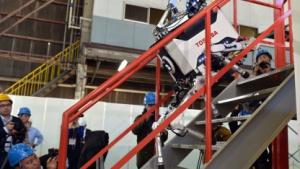 Toshibas Laufroboter: langsam auf der Treppe