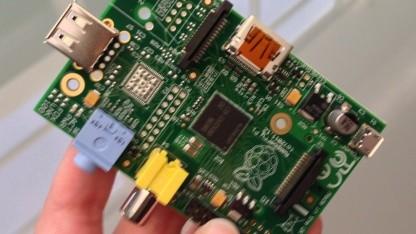 Ein erstes Bild des Raspberry Pi Model A