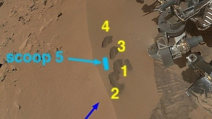 Marsrover Curiosity: sechs Wochen am Rocknest