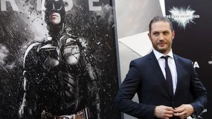 Bald Sam Fisher: der Schauspieler Tom Hardy bei der Weltpremiere von The Dark Knight Rises