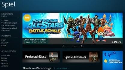 Playstation-Shop für Spiele