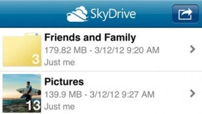 Skydrive für iOS wartet auf ein Update.