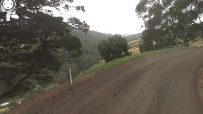 Google Streetview auf der Wild Dog Road