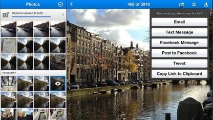 Dropbox 2.0 für iOS: Schaltflächen ohne Text