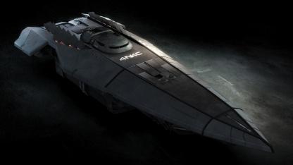 Elite: Dangerous - Renderbild eines Anaconda-Raumschiffs