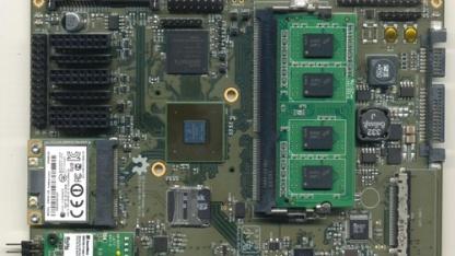 Die Platine des Novena-Projekts ist für den Einsatz in einem Laptop gedacht.
