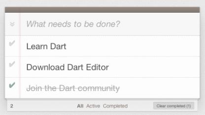 Todo-App auf Basis von Dart und Web UI