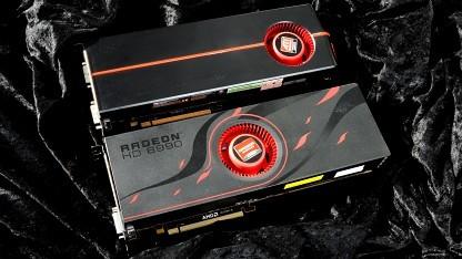 AMDs Dual-GPU-Karten 5970 und 6990. Die 7990 fehlt noch immer.