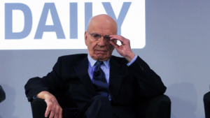 Rupert Murdoch beim Start von The Daily