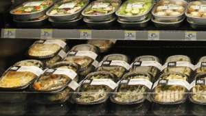 Salate in US-Supermarkt