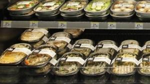 Salate in US-Supermarkt
