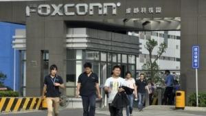 Arbeiter verlassen ein Foxconn-Werk in China.