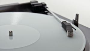 Mit dem 3D-Drucker erstellte Schallplatte