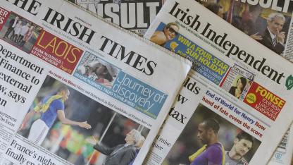 Sportbericht in der irischen Presse