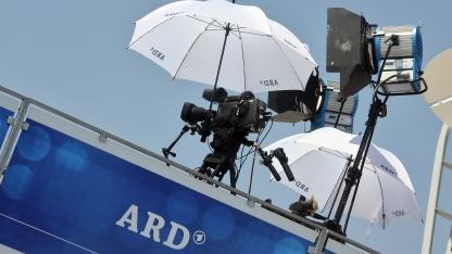 Ein Übertragungswagen der ARD