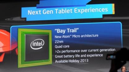 Intel kündigt neue Smartphone- und Tablet-Prozessoren an.