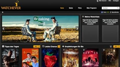 Watchever.de - ein neuer VoD-Dienst für Serien und Filme