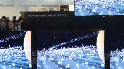 LGs gekrümmte OLED-Fernseher auf der CES 2013
