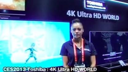 Toshiba hat auf der CES einen eigenen 4K-Standbereich.
