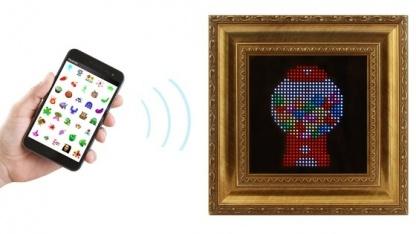 Pixel - ein interaktives Display für an 8-Bit-Zeiten erinnernde Pixelkunstwerke