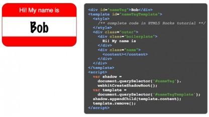 Chrome 25 unterstützt Shadow DOM.