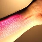 Tippen auf dem Arm: Google Glass mit Laserprojektor für den Unterarm