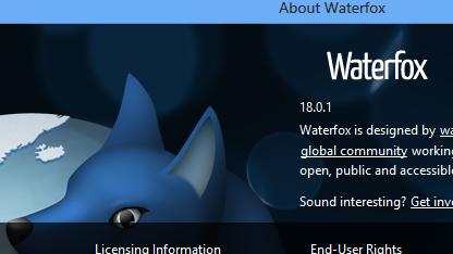 Waterfox wurde in einer neuen Version veröffentlicht.