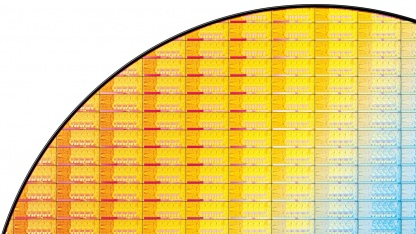 Bisheriger Ivy-Bridge-Wafer mit Quadcore-CPUs