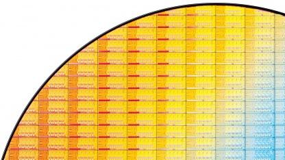 Bisheriger Ivy-Bridge-Wafer mit Quadcore-CPUs