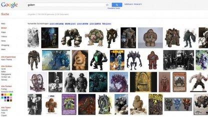 Die bisherige Thumbnail-Anzeige in der Bildersuche von Google