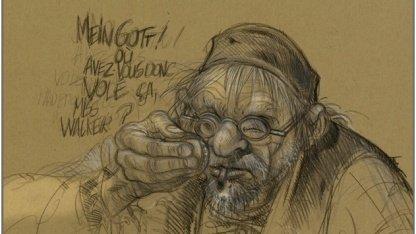 Benoit Sokals Skizze zum Adventure Syberia 3