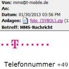 Malware: Neuer E-Mail-Wurm tarnt sich als MMS von T-Mobile