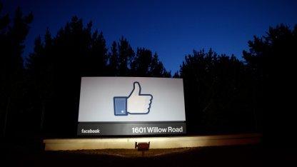 Facebooks Hauptsitz in Menlo Park, Kalifornien