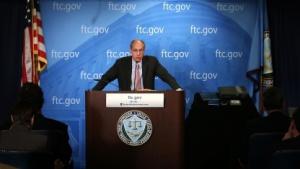 FTC-Chef Jon Leibowitz bei der Verkündung der Google-Entscheidung
